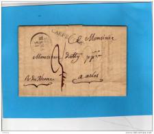 Lettre Ancienne- Cachet Linéaire CARPENTRAS + Dateur FEV 1828-pour Arles - 1801-1848: Voorlopers XIX