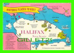 MAPS - CARTES GÉOGRAPHIQUES - HISTORIC PLACES TO VISIT HALIFAX, NOVA SCOTIA - TRAVEL IN 1975 - - Cartes Géographiques
