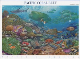 USA (2004) Yv. 3529/38  /  Nature Of America #6 - Fauna - Pacific Coral Reef - Biodiversity - Marine Fauna - Turtle - Briefmarken