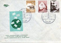 INDONESIE. Belle Enveloppe De 1959. Semaine Internationale De La Lettre. - Indonesia