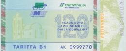 PALERMO AMAT TRENITALIA SERIE FIGURATA TARIFFA B1 120 MINUTI