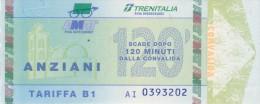 PALERMO AMAT TRENITALIA SERIE FIGURATA TARIFFA B1 ANZIANI 120 MINUTI