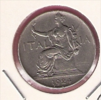 ITALIE 1 LIRA 1924 - 1861-1946 : Royaume