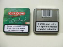 BOITE Métal Vide CAFE CREME PICCOLINI Italian Macchiato (20 Cigares) - Contenitore Di Sigari