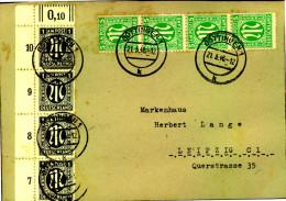 1946: Fernbrief Ab GÖTTINGEN Mit Besserer AM-Post-Frankatur (16 C) - Bizone