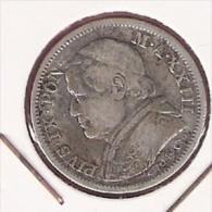 VATICAAN PAPAL STATES LIRA 1869R YR.XXIII SILVER - Vatican