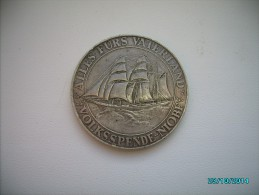 GERMANY SILVER MEDAL OF SAILBOAT NIOBE SHIPWRECK , Ship  Boat , 1932  ,0 - Allemagne
