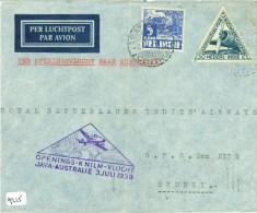 LP * 1e KNILM VLUCHT NEDERLANDS-INDIE * BRIEFOMSLAG Uit 1938 Van TJISAROEA Naar SYDNEY AUSTRALIE  (9215) - Indes Néerlandaises