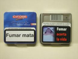 BOITE Métal Vide CAFE CREME FINOS French Vanilla (20 Cigares) - Contenitore Di Sigari