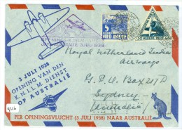 LP * 1e KNILM VLUCHT NEDERLANDS-INDIE * BRIEFOMSLAG Uit 1938 Van TJISAROEA Naar SYDNEY AUSTRALIE  (9216) - Netherlands Indies