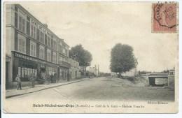 CPA ST SAINT MICHEL SUR ORGE, CAFE DE LA GARE, MAISON VEAULIN, ESSONNE 91 - Saint Michel Sur Orge