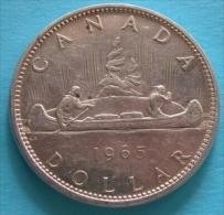 Canada Dollar 1965  Silver  Argento - Canada
