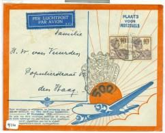 LP * 500e POSTVLUCHT NEDERLANDS-INDIE * BRIEFOMSLAG Uit 1937 Van TJISAROEA Via BUITENZORG Naar DEN HAAG  (9220) - Niederländisch-Indien