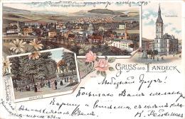 Pologne Poland - Gruss aus Landeck - Stadt U.Bad Landeck - Kurplatz - Rathhaus - Folded at the left bottom corner