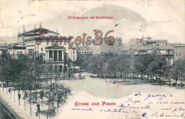 Pologne Poland - Gruss aus Posen - Wilhelmsplatz mit stadttheater