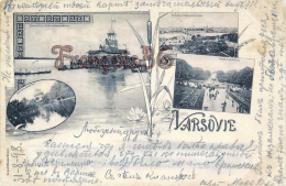 Pologne Poland - Varsovie - vue de Praga - Societ� des regates de Varsovie 1898 - good condition