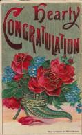 Hearty Congratulation - Cornucopia Of Red Roses - Fleurs, Plantes & Arbres