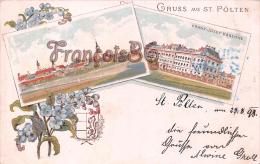 Autriche - Gruss Aus St Pölten - Franz Joseph Kaserne 1898 - Good Condition - Autriche