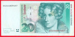 Germany 20 Deutsche Mark 1993 XF++   # P- 39b - [ 7] 1949-… : RFA - Rep. Fed. Tedesca