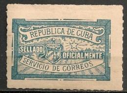 Timbres - Cuba - 1915 - Sellado Oficialmente - - Kuba