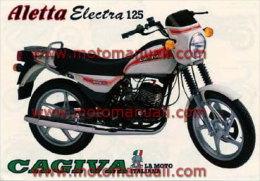 CAGIVA ALETTA ELECTRA 125 + PRODUZIONE 1986 Depliant Originale Genuine Motorcycle Factory Brochure Prospekt - Motorräder