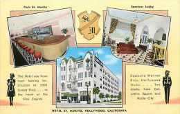 225333-California, Hollywood, Hotel St Moritz, Sunset Blvd, Cafe, Lobby, E.C. Kropp No 10530N - Otros