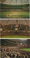 Houston Astrodome Sports Stadium, Baseball Football, Interior Images, Lot Of 7 C1960s Vintage Postcards - Stades