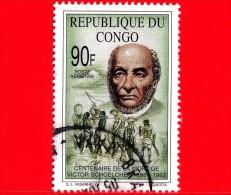 Congo Rep - 1993 - 100 Anni Della Morte Di Victor Schoelcher - 90 - Congo - Brazzaville