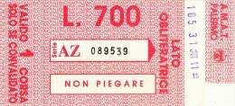 PALERMO AMAT  ROSSO LIRE 700