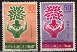 HAITI - 1960 - ANNO INTERNAZIONALE DEL RIFUGIATO - USATI - Haiti