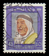 Kuwait Scott # 236, 45f violet & silver (1964) Sheik Abdullah, Used