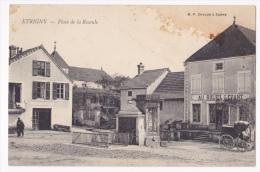 """Etrigny - Place De La Bascule - Café """"Au Soleil Levant"""", Calèche, Puits Avec Son Balancier, Poids Public - Pas Circulé - Frankreich"""