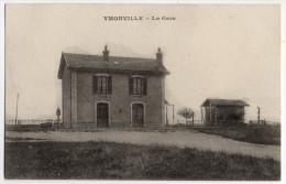 """Cpa """" YMONVILLE - La Gare """"TBE - 1919 - Chartres"""