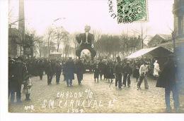 71 CHALON -sur-SAONE   S.M CARNAVAL  1er 1907 - CARTE PHOTO Barthelemy  Voyagée 1907 - Chalon Sur Saone