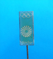 OLYMPIC GAMES 1972. Munchen Germany -  Pin Badge NOC Olympics Jeux Olympiques Olympia Olimpiadi Anstecknadel Distintivo - Olympic Games