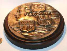 Tape de bouche en bronze Marine GARONNE. 16 cm -