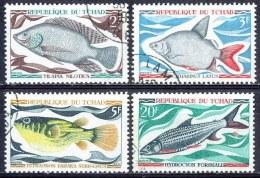 G183 FAUNA VISSEN FISH POISSONS FISCHE TCHAD 1969 Gebr / Used - Poissons