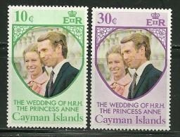 "Cayman Islands     ""Princess Anne's Wedding""   Set    SC# 320-21  MNH** - Cayman Islands"