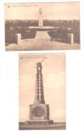 2 TWO POSTCARDS CANADIAN WAR MEMORIAL ST JULIEN & MILITARY WWI POELCAPELLE Guynemer Monument - Oorlogsmonumenten