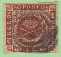 DEN SC #7a  1858 Royal Emblems 4 Margins, CV $8.00 - Used Stamps