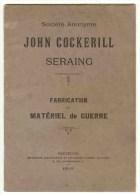 SERAING / Mat�riel de Guerre John Cockerill