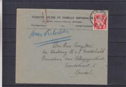 V De Londres - Belgique - Lettre De 1945 ° - Oblitération Lede - Lettres & Documents