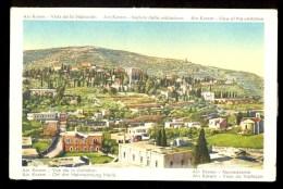 Ain Karem - Vista Da Visitacao ------- Postcard Traveled - Palestina