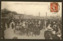 BORDEAUX Rare La Place Des Quiconces Pendant La Foire (CB) Gironde (33) - Bordeaux