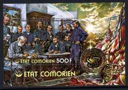 Comores BF N° 5 XX  Bicentenaire De L'Indép. Des Etats-Unis,Rédition De Lee  Le  Bloc  Ss Char. TB - Comores (1975-...)