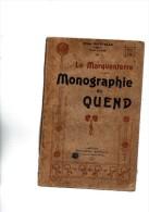 Alfred Dufételle.Le Marquenterre.Monographie De Quend.178 Pages.1907.édition Originale.complet De Toutes Les Cartes. - Picardie - Nord-Pas-de-Calais