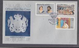 SWAZILAND: First Day Cover, 1977 Silver Jubilee Of Elizabeth II - Swaziland (1968-...)
