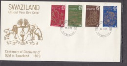 SWAZILAND: First Day Cover, 1979  Centenary Of Discovery Of Gold - Swaziland (1968-...)