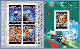 gu14315ab Guinea 2014 Space  Yuri Gagarin 2 s/s