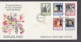 SWAZILAND: First Day Cover, 1986 Elizabeth II, 60th Birthday - Swaziland (1968-...)